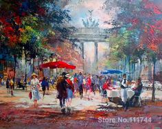 Romantic paintings A place in munchen germany Willem Haenraets art on Canvas High quality hand painted Ship Paintings, Landscape Paintings, Abstract Paintings, Landscapes, Art Timeline, Art Sur Toile, Romantic Paintings, Love Oil, Parasols