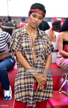 Teyana Taylor attends the Biggest Memorial Day Weekend Party at Compound on May 2017 in Atlanta, Georgia. 90s Hip Hop Outfits, Kpop Outfits, Celebrity Outfits, Celebrity Style, Cute Outfits, Fashion Outfits, Teyana Taylor, 80s And 90s Fashion, Black Girl Fashion