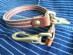 by SleepingDogsLeather Leather Lanyard, Hand Stitching, New Product, Solid Brass, Wax, Hands, Belt, Wallet, Free