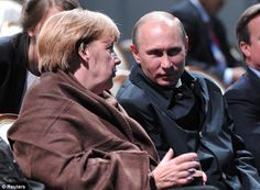 All business: Despite his gentlemanly act Merkel continued to talk seriously with the President - a sign that the party was just for show. Sept 2013- G20 Summit.