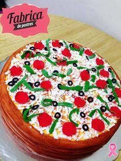 Pizza Cake de Fabrica de Postres. De los mejores pasteles de Monterrey.