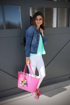Spring outfit with white jeans #justpostedblog #shopthelook