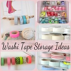 Washi Tape Storage Ideas | Crafting in the Rain