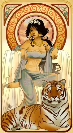 Disney Princesses Mucha Style Pin-Up Art — GeekTyrant