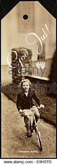Prinsesse Astrid på sykkel - Stock Image