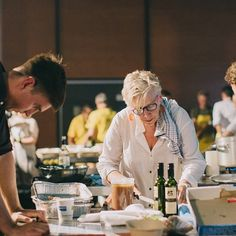 Great picture of Maggie in action @ozharvest #CEOCOOKOFF - Thanks @nattnee for sharing! #REGRAM #MAGGIEBEER #SYDNEY #CHARITY #INSTAGOOD