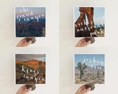National Park table numbers set - perfect for the adventurous couple and a fun alternative to table numbers for your wedding!