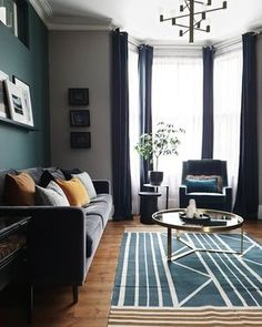 The month when every other house in the street is having scaffolding put up, skips delivered. Living Room Green, Home Living Room, Living Room Designs, Living Room Decor, Bedroom Decor, Grey Sofa Design, Lounge Design, Home Decor Styles, Cheap Home Decor