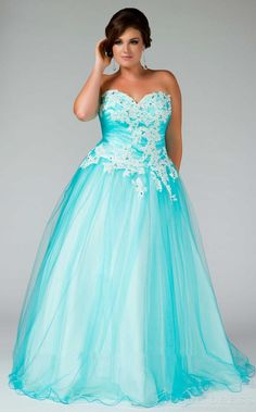 Strapless Lace Applique Evening Gown