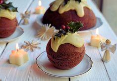 Double Chocolate Christmas Pudding Cakes