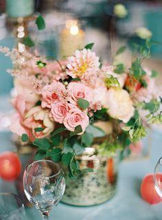 gorgeous floral arrangement w/ mercury vase