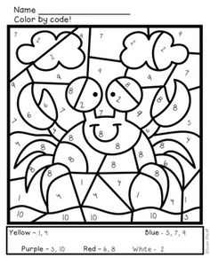 clown color by number page #colorpages #coloring #