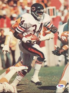 This is a 8x11 Magazine Page Photo that has been hand signed by Walter Payton. It has been certified authentic by PSA/DNA and comes with their sticker and matching certificate.