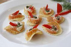 Lovely smoked salmon appetizer / Come Taste the WILD!  www.WildCanadaSalmon.com / www.facebook.com/wildcanadasalmon / www.twitter.com/wildcasalmon   : )