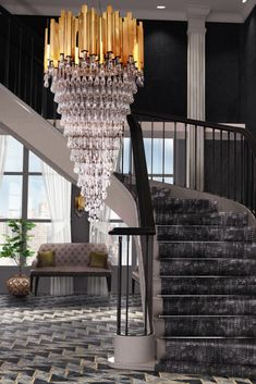 A luxurious entryway demands a luxurious chandelier that will dazzle anyone. The Trump Chandelier is the perfect luxury chandelier for a refined ambiance, and it's ideal to brighten a foyer. Luxury Chandelier, Luxury Lighting, Chandeliers, Modern Chandelier, Cool Lighting, Lighting Design, Lighting Ideas, Mid Century Modern Lighting, Mid Century Modern Design