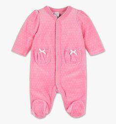 Frontimage view Pijama para bebé de algodón ecológico in rosa