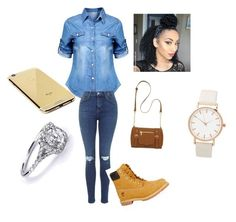 """Timberlands outfit"" by kkdeamues ❤ liked on Polyvore featuring мода, Timberland, New Directions, Goldgenie, women's clothing, women's fashion, women, female, woman и misses"