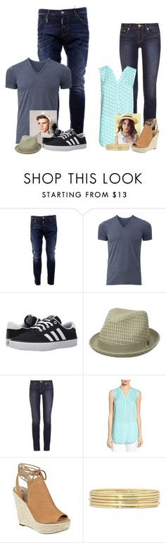 """""""//Couples// Dinner Date"""" by lizzybel-18 ❤ liked on Polyvore featuring Dsquared2, Uniqlo, adidas, Ben Sherman, Tory Burch, Sandra, GUESS, Liz Claiborne, beldesigns16 and gcouples"""