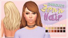 """tiedyedkiwisims: """"Hey I'm back wassgud @enriques4 's Jenn Hair recoloured in WMS's Naturals Palette! Don't forget to grab the mesh below! Download below the cut Keep reading """""""