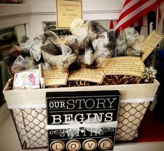 30 Unique Wedding Engagement Gifts For Cute Wedding Ideas - Geschenkkorb ideen - Engagement Gift Baskets, Unique Engagement Gifts, Wedding Gift Baskets, Wine Gift Baskets, Wedding Engagement, Engagement Party Gifts, Engagement Ideas, Engagement Rings, Bridal Shower Gifts For Bride