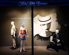 """SAKS FIFTH AVENUE, Eaton Centre, Toronto, Canada, """"It's a new era in fashion, there are no rules"""", for Alexander McQueen, pinned by Ton van der Veer"""