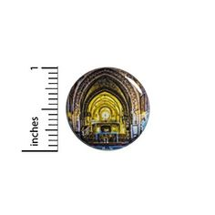 "Cathedral Button Beautiful Church Temple Sanctuary Backpack Jacket Pin 1"" #79-1 Funny Buttons, Cool Buttons, Everyday Steampunk, Steampunk Heart, Jacket Pins, Steampunk Accessories, Steampunk Cosplay, Steampunk Design, Cool Jackets"