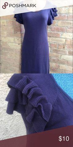 Mossimo Purple Ruffle Sleeve Sweater Dress Cute purple sweater dress with ruffled sleeves. Mossimo Supply Co. Dresses