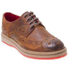 Buy Cognac Black Walker & Whyte Men's Kyle Oxford Shoe shoes