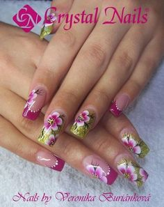 Pretty Nail Art, Beautiful Nail Art, Marble Nail Designs, Nail Art Designs, Nails 2015, Hot Nails, Nagel Gel, Glitter Nail Art, Flower Nails