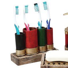 Shotgun Shell Toothbrush Holder