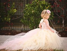 Nicole Rene Design {weddings, events, home decor, fashion & more}: Dream Wedding #21: Blush Pink Gown. My daughter would be adorable in this.