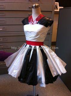 Vestido con bolsas de plástico superelegante!!