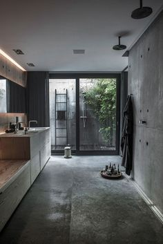 Check Out 41 Concrete Bathroom Design Ideas To Inspire You. Concrete is a super popular material due to its durability, modern look and budget-friendliness. Interior Design Minimalist, Modern House Design, Home Interior Design, Interior Architecture, Interior Decorating, Design Interiors, Decorating Ideas, Modern Interiors, Scandinavian Architecture
