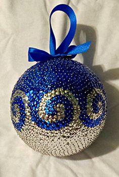 Christmas Crafts To Sell, Homemade Christmas Decorations, Christmas Diy, Handmade Christmas, Sequin Ornaments, Beaded Christmas Ornaments, Sequin Crafts, Creations, Amazon