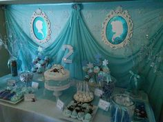 Gorgeous Frozen birthday party! See more party ideas at CatchMyParty.com!