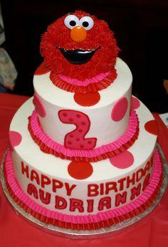Elmo Party Cake for a girl