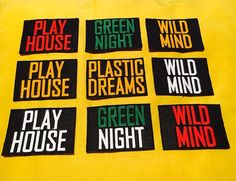 Play House   Green Night   Plastic Dreams   Wild Mind #playhouse #greennight #plasticdreams #wildmind #patch #embroidered…