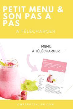 Petit menu et son pas à pas à télécharger Menu, Cantaloupe, Creme, Fruit, Food, Cow, Custom In, Kitchens, Menu Board Design