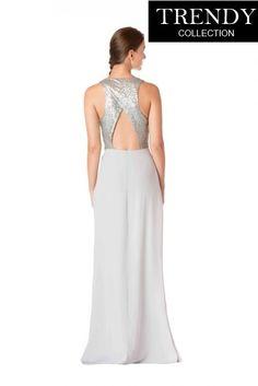bf77e80f4ad6 Bari Jay 1701 Long Cutout Bridesmaid Dress