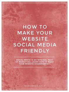 How To Make Your Website Social Media Friendly. Having a social media friendly website is basically making sure your content is easily shareable…