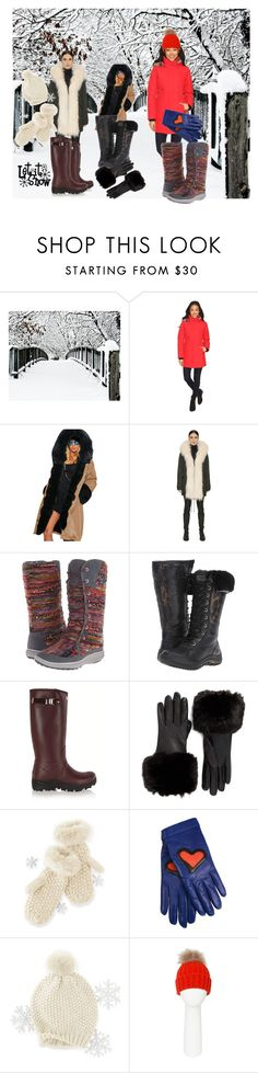 """Baby, it's cold outside"" by ningaunis ❤ liked on Polyvore featuring Obermeyer, Mr & Mrs Italy, Merrell, UGG, Hunter, Ted Baker, Mark & Graham, Boutique Moschino, Pia Rossini and LetItSnow"