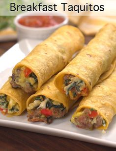 Breakfast Taquitos are a great alternative to breakfast burritos.