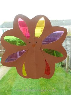 """""""Stained Glass"""" Turkey Craft (from Activity Village)"""