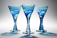 The Lapis series by Peter Layton, is another stunning example of the masterful artistry of this renowned craftsman and teacher. Peter Layton's willingness to push the limits of the hot glass medium inspires awe and is apparent in every piece he produces. I love his work!