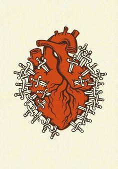L & # esprit Français, Heart Illustration, Anatomical Heart, Heart Images, Human Heart, Anatomy Art, Art Pop, Sacred Heart, Heart Art, Drawing S
