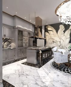 Inspiring Kitchen Floor Plans You Will Love / Design / Amazing …. We are swooning over this gorgeous kitchen! Let us know 👇🏻 ⠀⠀⠀⠀⠀ ⠀⠀⠀⠀⠀⠀⠀⠀⠀ ⠀⠀⠀⠀⠀ ⠀⠀⠀⠀ ⠀ ⠀ 📷: House design (Visited 4 times, 1 visits today) Home Decor Kitchen, Kitchen Interior, Home Interior Design, Home Design, Design Ideas, Kitchen Ideas, Modern Interior, Marble Interior, Design Trends