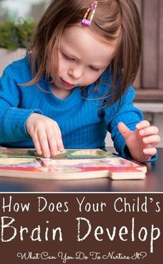 How Does Your Child's Brain Develop And What Can You Do To Nurture It? The brain grows rapidly during the first three years and this article offers some great suggestions for helping our young children to learn. Early Childhood Centre, Early Childhood Education, Pediatric Physical Therapy, Occupational Therapy, Baby Development, Language Development, Toddler Fun, Child Life, Kids Education