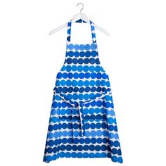 Marimekko Räsymatto apron, blue (63 CAD) ❤ liked on Polyvore featuring home, kitchen & dining, aprons, cotton apron, marimekko apron, marimekko and blue apron