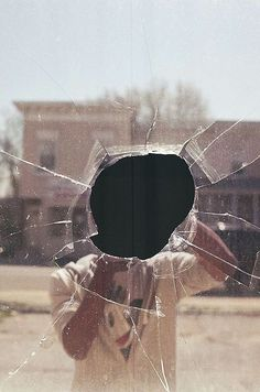 Reflection self portrait | Photo reflected in broken window | selfie ideas