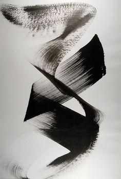 gacougnol: István Nádler Composition casein tempera on paper Japanese Calligraphy, Calligraphy Art, Black And White Abstract, White Art, Modern Art, Contemporary Art, Modern Decor, Illustration Art, Illustrations